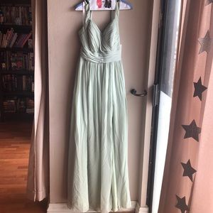 Size 8 Azazie Veronica bridesmaid dress sage green